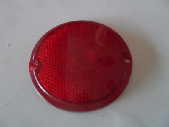 Lente Da Lanterna Traseira Redonda Vermelha 8cm Diâmetros