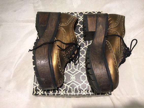 Zapatos Paruolo 37 Con Plataforma Usados Impecables En Caja