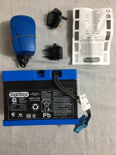 Imagem 1 de 5 de Kit Bateria 12v 12ah E Carregador 12v Peg-pérego Original.