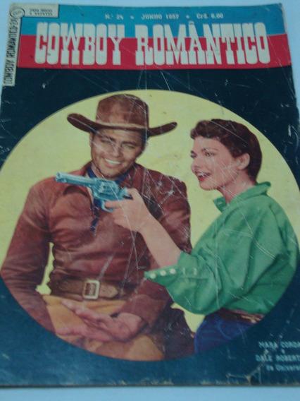 Cowboy Romântico Nº 24 De 1957 Ebal Gibi Raro Banca