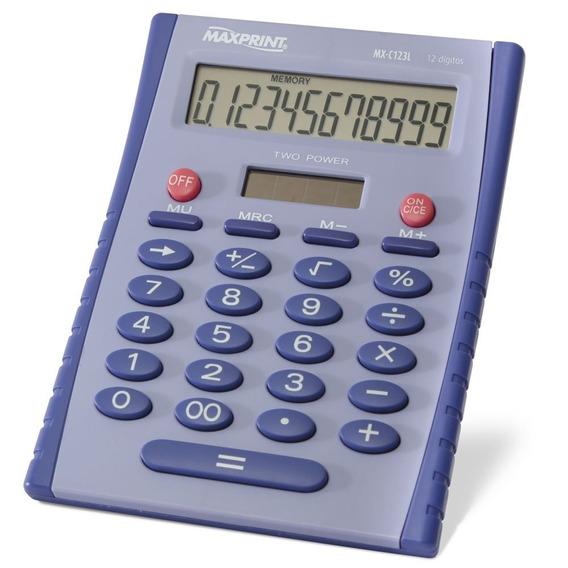 Calculadora De Mesa Maxprint 12 Dígitos Mx-c123l Lilás