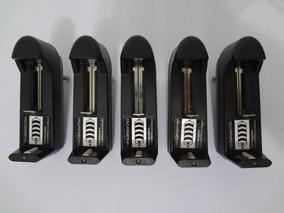 Kit 5 Carregador Bateria Lanterna 14500 18650 Li 3,7v E 4,2v