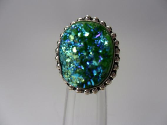 Tw Anel Em Titanium Verde Prata 925