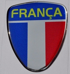 Emblema Resinado França Coluna Porta Peugeot Renault Citroen