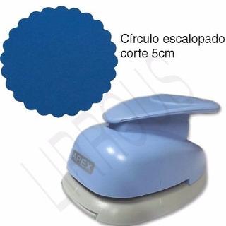Furador Scrapbook Círculo Liso 5cm + Escalopado 5cm