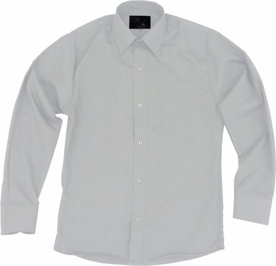 Camisa De Vestir Para Adulto Gris Claro Perla 34 A 42