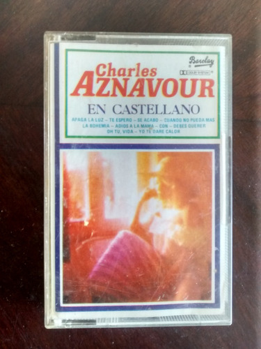 Cassette De Charles Aznavour En Castellano (321