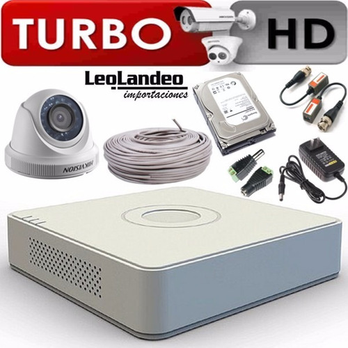 Kit De Seguridad Camara Completo Hd Hikvision Listo Para Usa