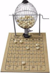 Jogo Bingo Loto Vispora Globo 20cm Brinde 300 Cartelas