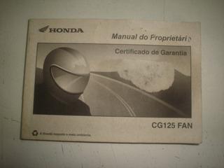 Manual Moto Honda Cg 125 Fan 2007 2008 2009 Original Titan