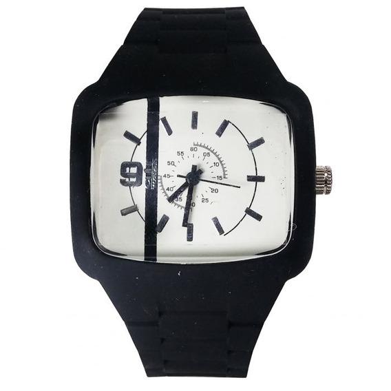 Relógio Pulso Air Watch Pulseira De Silicone Preto M8