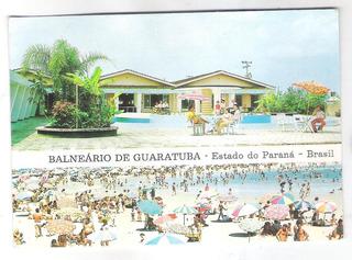 Postal Antigo, Balneário De Guaratuba. Motel Santa Paula.