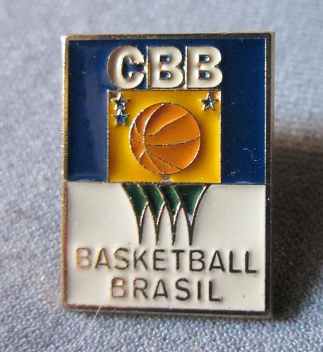 Imagen 1 de 2 de Pins Basketball Brasil Cbb