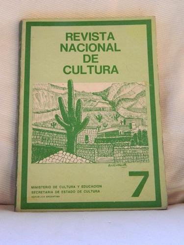 Imagen 1 de 2 de Revista Nacional De Cultura N°7 Año 2 Edic Culturales Argent