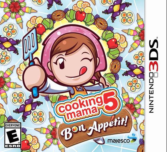 Jogo Mídia Física Cooking Mama 5 Bon Appetit Nintendo 3ds