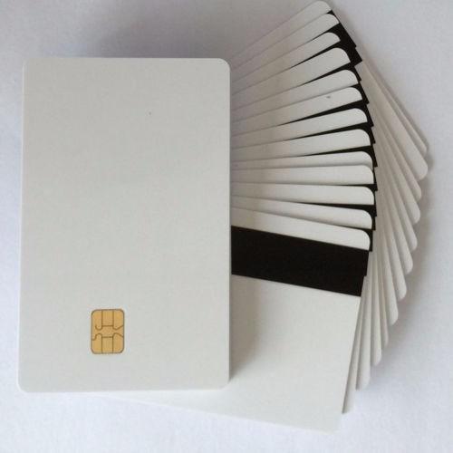 10 Unidades Smartcard Pvc Chip E Tarja Magnética Sle 4442