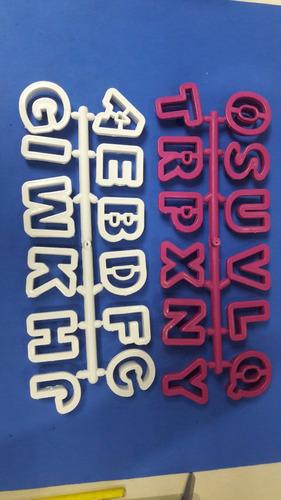 Cortador Letras Abecedario Masa Flexible Reposteria 4,5 Verd