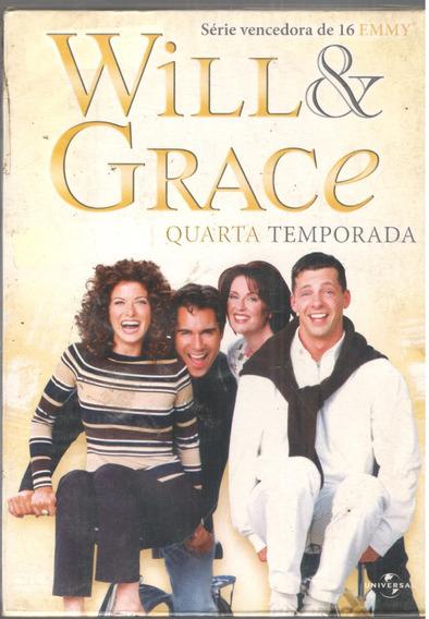 Dvd Will E Grace 4temporada - Original -frete Gratis