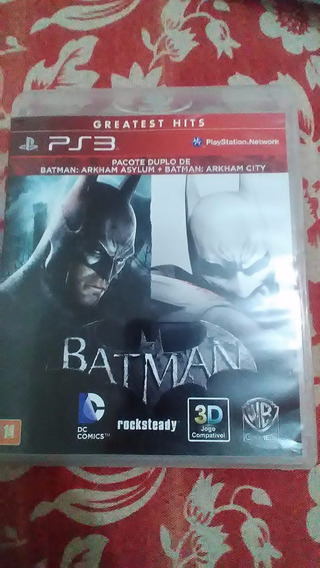 Batman Arkham City Port+ Batman Asylum Mídia Física Ps3