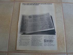 Propaganda Antiga Investimentos Volkswagen 1972 Fusca