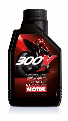 Imagen 1 de 3 de Aceite Motul 300v 4t Sintetico 15w50 1l - Team Motorace -