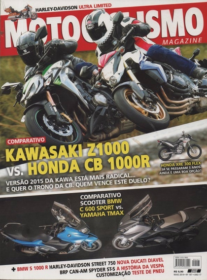 Motociclismo N°197 Kawasaki Z1000 Honda Cb 1000r Yamaha Tmax