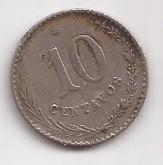 Paraguay Antigua Moneda De 10 Centavos Año 1903
