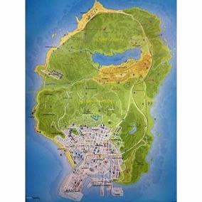 Mapa Oficial Impresso A Cidade De Los Santos Gta V