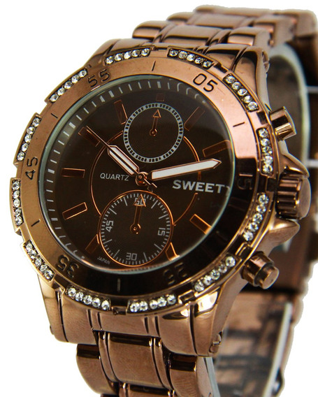 Reloj Sweet Acero Brown Swarovski Garantia12m Tienda Oficial