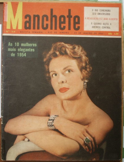 Manchete 1955 - 10 Mais Elegantes* Paulo Afonso*