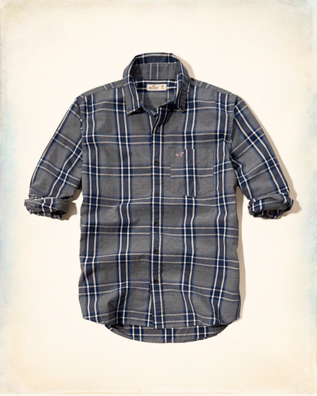 Camisa Hollister Social Casual Masculinas Xadrez Importada