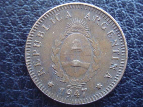 Argentina - Moneda De 2 Centavos, Año 1947 - Muy Bueno