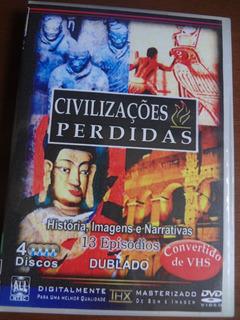 Dvd Civilizações Perdidas 13 Documentários Em 4dvds