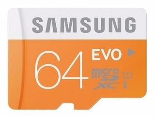 Cartão Samsung Micro Sdxc Evo 64gb 48mb/s Pronta Entrega