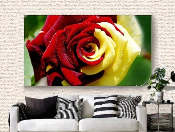Quadro Decorativo 105x75 Rosa Vermelha (para Quarto Do Casal
