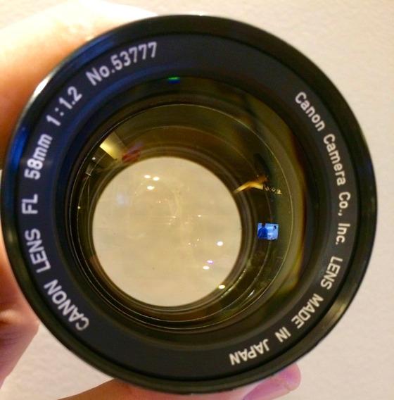 Lente Canon Fl F/1.2 58mm 1.2 Foco Manual Excepcional