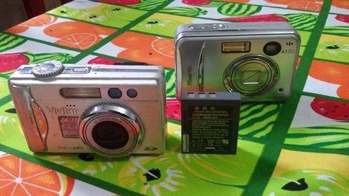 Câmera Fuji A345 E Vivitar 8300 Com Defeito,