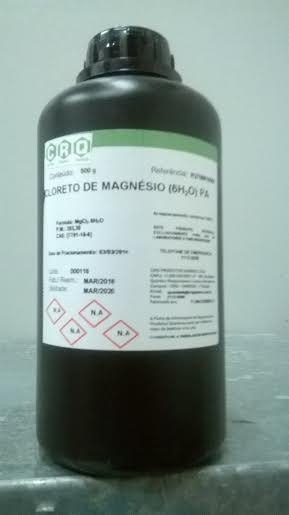 Cloreto De Magnesio Pa 500g Frete Grátis Todo Brasil !!!!!