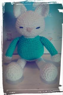 Gatito Dormilón Hecho A Crochet
