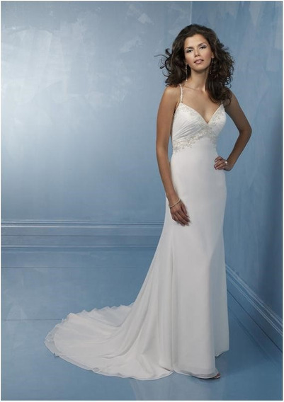 Vestido De Noiva - Branco - 44 - Pronta Entrega - Vn00187