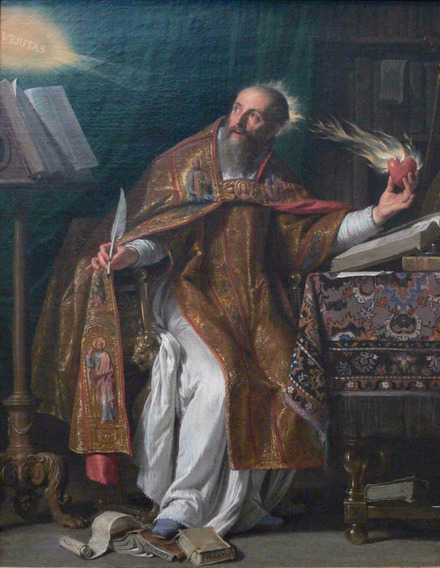 Lienzo Tela San Agustín De Philippe Champaigne Arte Sacro