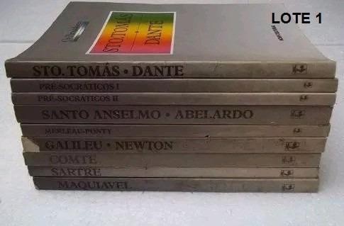 Livro Coleção Os Pensadores - Lote 9 Volumes Conf. Fotos
