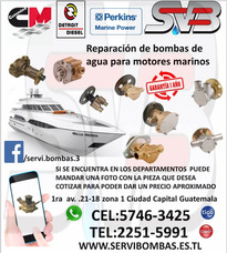 Bomba De Agua Automotrices Motores Marinos Guatemala