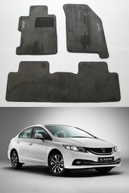Tapete Carpete Luxo Honda Civic 2012 2013 2014 2015 2016