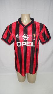 Camisa De Futebol Do Ac Milan Lotto Opel 1995 1996 - Sc12