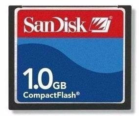 10 X Cartão Memória Compact Flash 1gb Sandisk