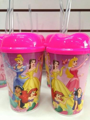 Vaso Pitillo Princesas Sorpresas Fiestas Piñatas Regalos