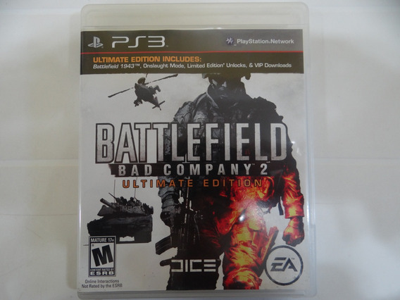 Battlefield Bad Company 2 Ultimate Edition - Ps3 - Completo!