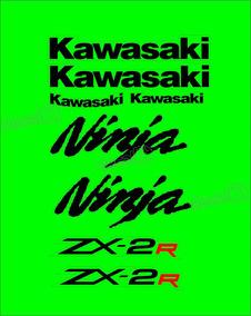 Faixa Emblema Adesivo Kawasaki Ninja 250r Zx 2r 25013 Zx2r