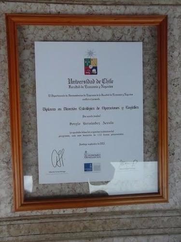 Diplomas,entre-vidrios, Madera Natural, Desde $ 1.200.